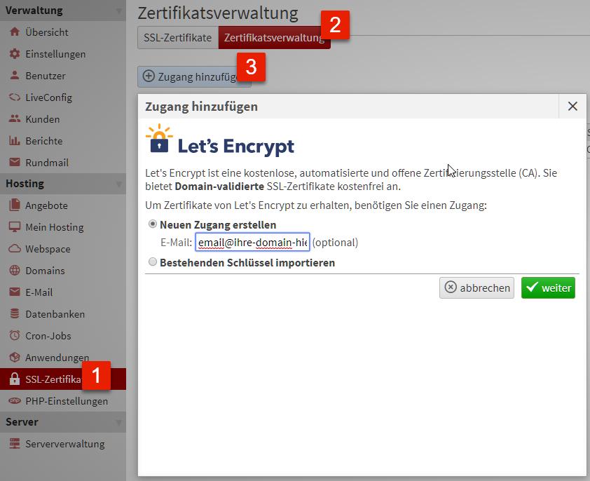 Let\'s Encrypt SSL - Support & Oft gestellte Fragen